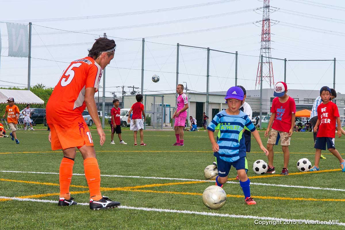 選手と一緒にサッカーが出来るゾ!