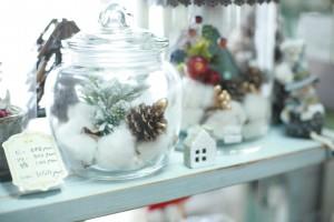 綿の花が詰まった瓶を購入。