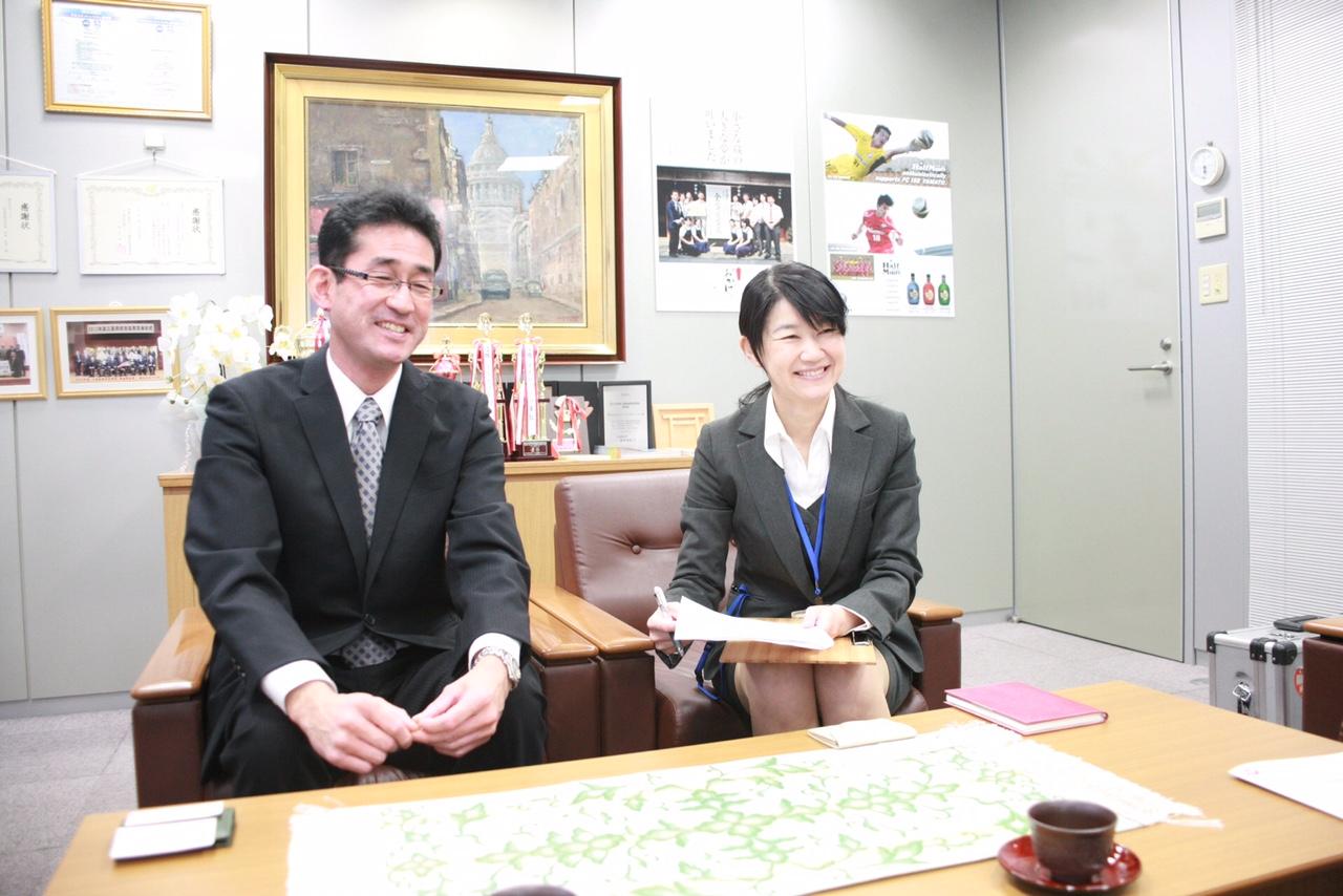 応接室に通して頂き、出迎えてくれたのは藤田さんと奥野さん。