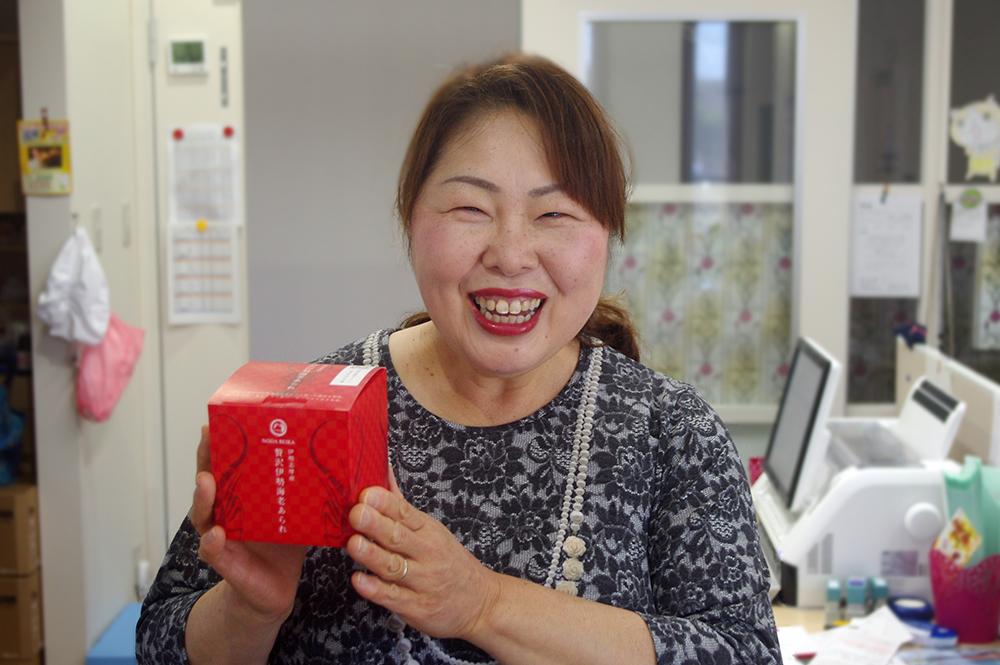 社長の野田恵子さん。笑顔が眩しい。
