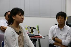 田中局長(左)と木下くん(右)