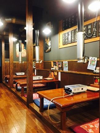 ▲松坂牛の希少部位が頂ける焼肉「七福」