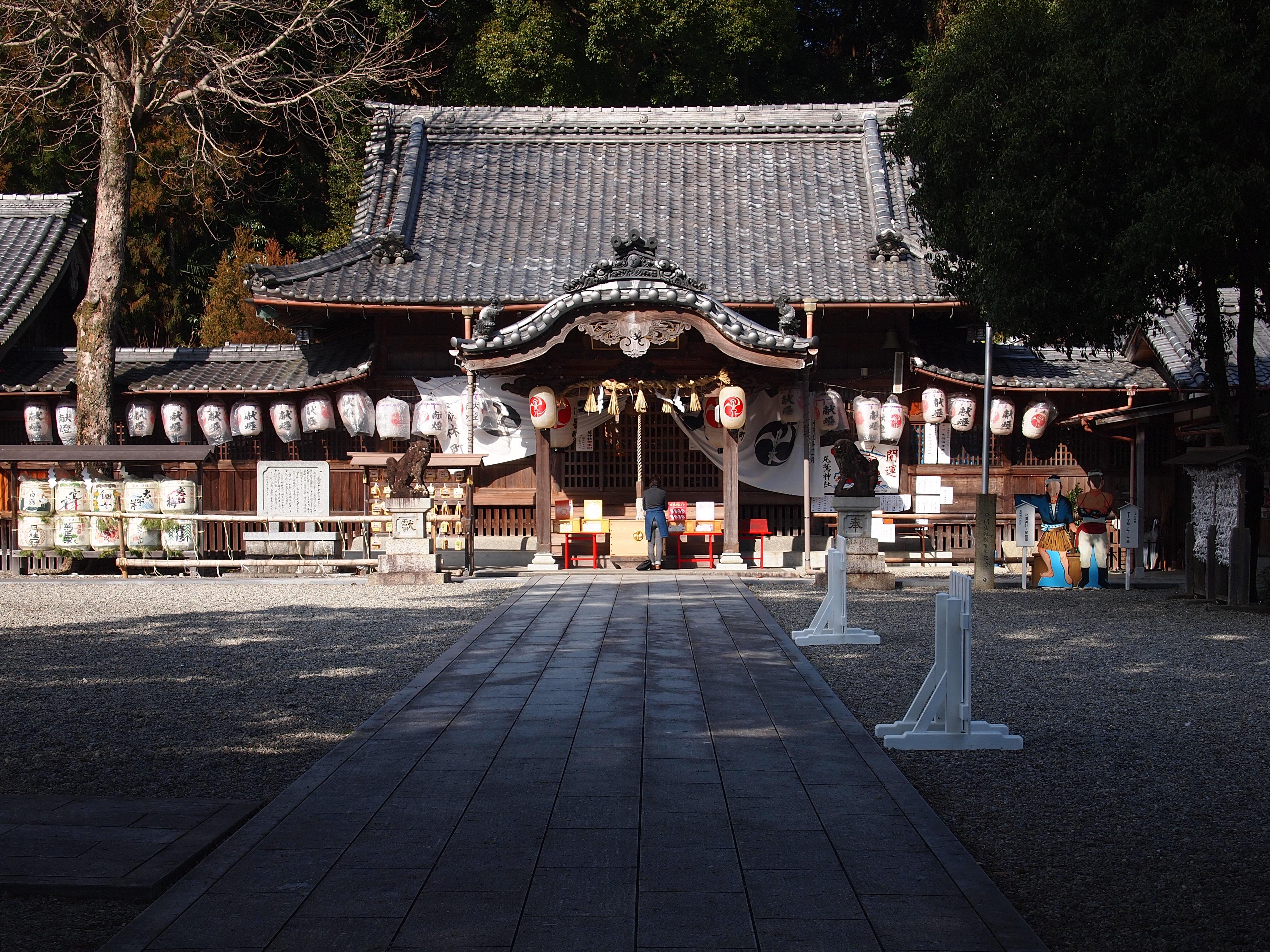 尾鷲神社。スサノオノミコトをご神体として祀っています。