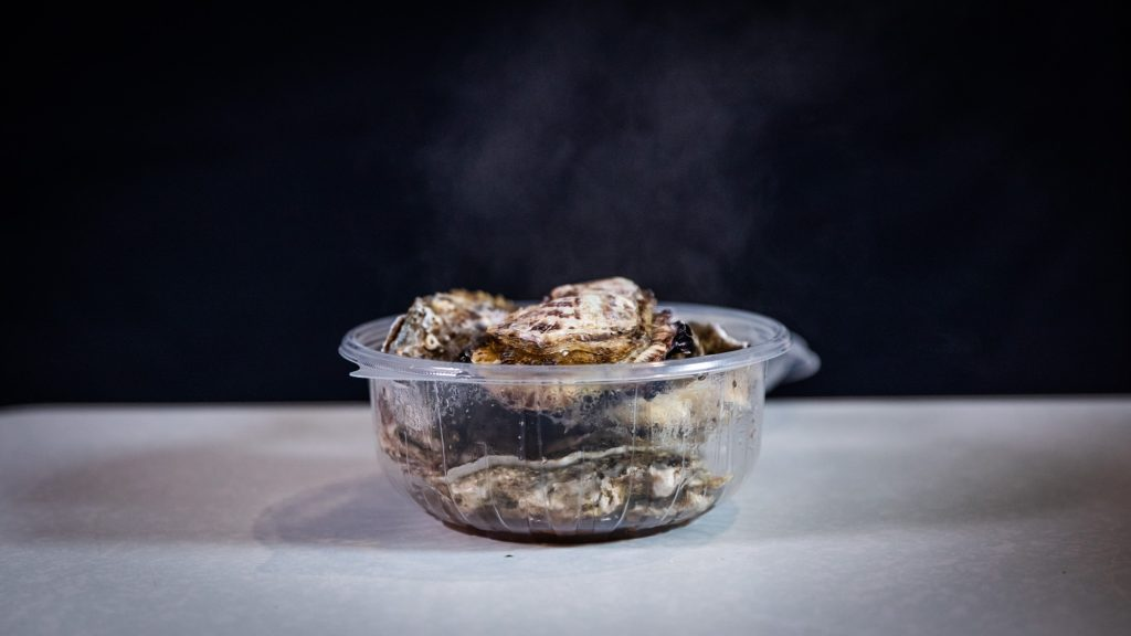 蒸し牡蠣 完成