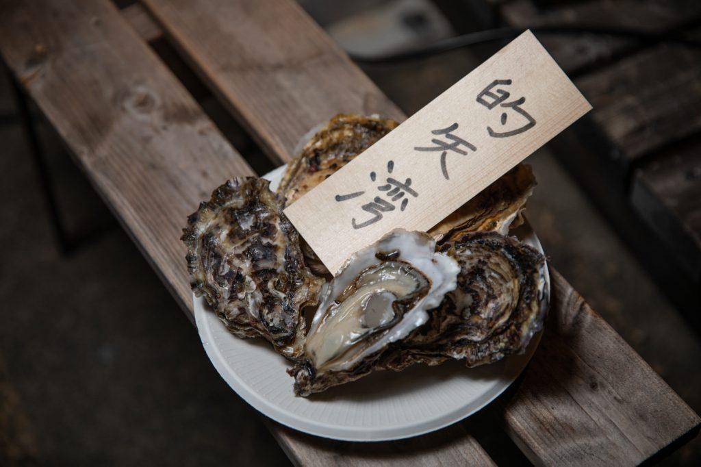 的矢湾の牡蠣