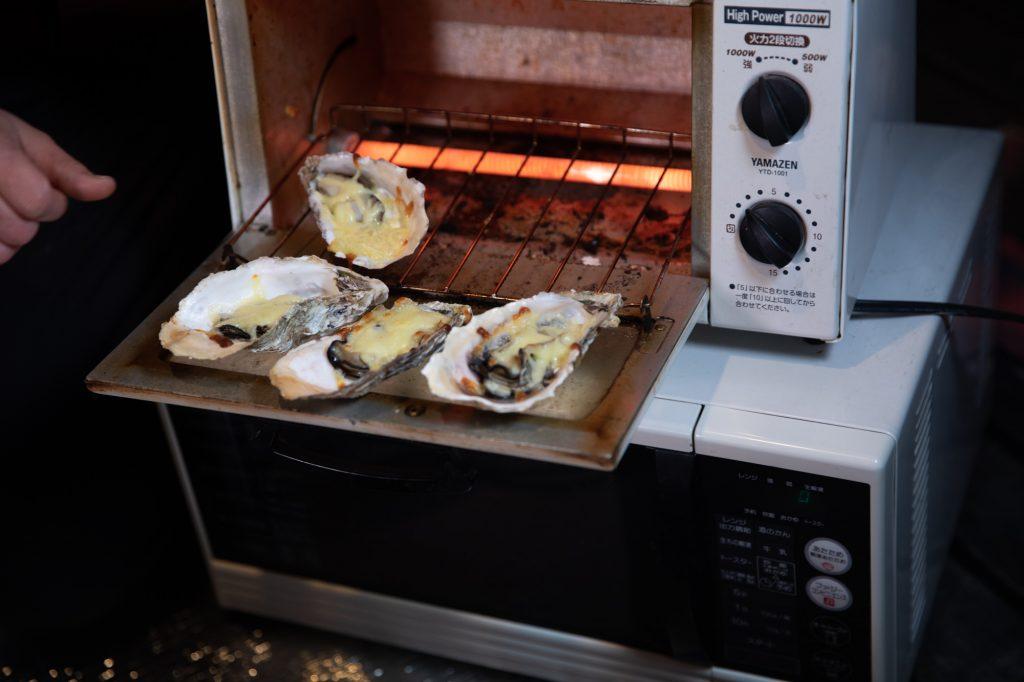 蒸し牡蠣 オーブン