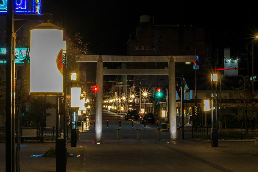 夜の外宮参道2