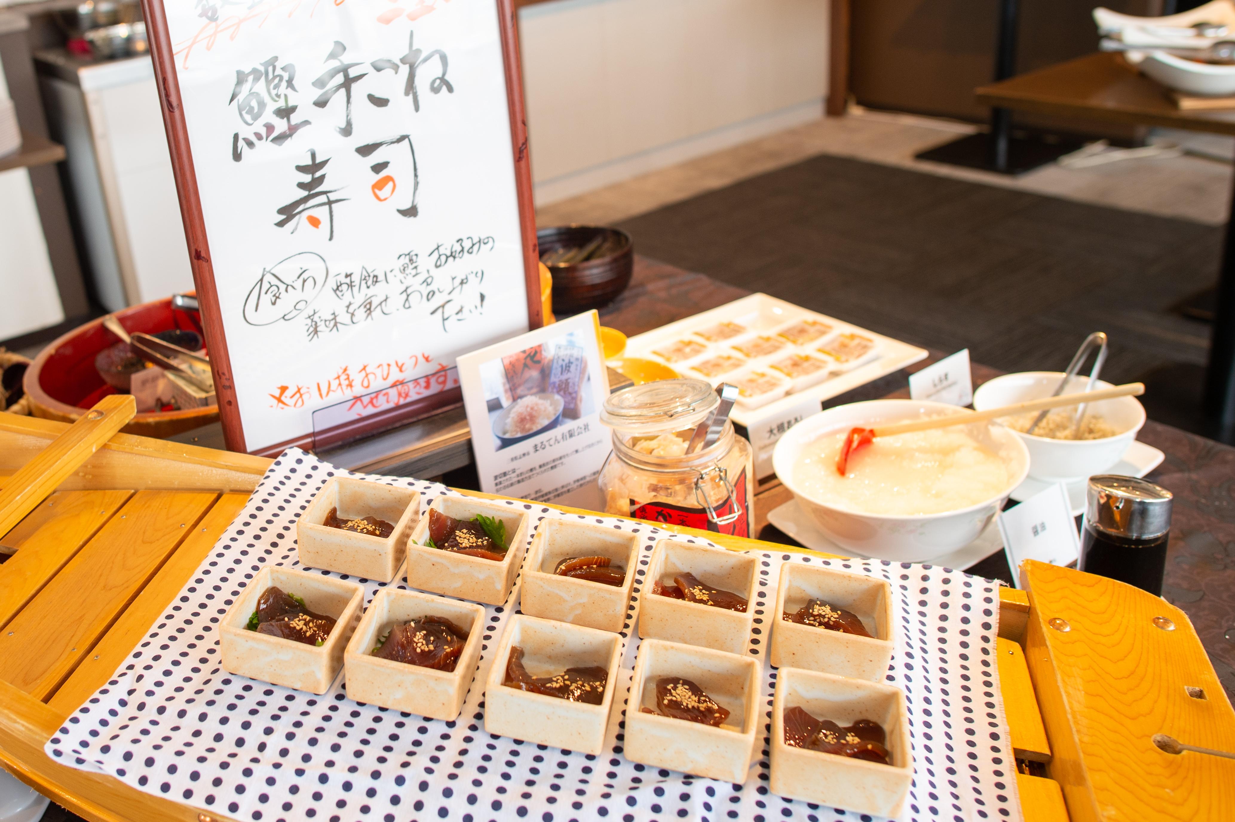 プラトンホテル四日市 朝食ビュッフェ みえの朝ごはん 手こね寿司3