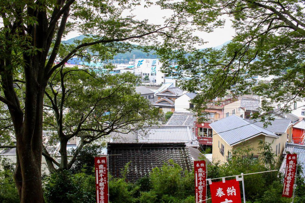 鳥羽中之郷まち歩き 金胎寺から見える鳥羽の風景