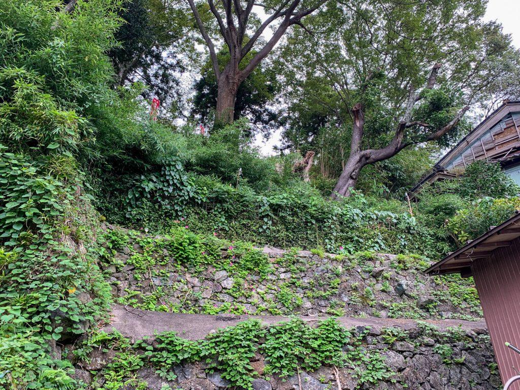 鳥羽中之郷まち歩き 糀屋裏庭の石垣2