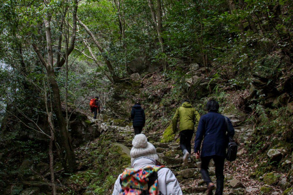 ブロガーが六十尋滝へ向かう道中