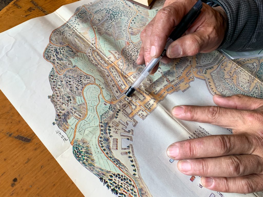 鳥羽市藤野郷で暮らす杉田さんとまち歩き 地図2