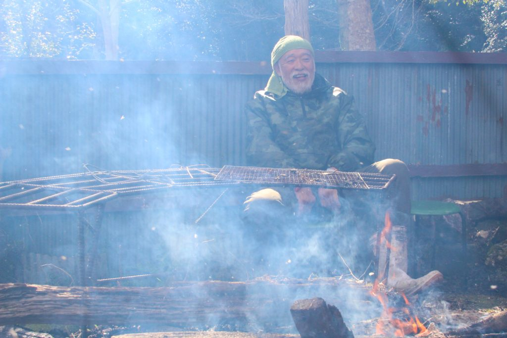 焚き火と仙人2