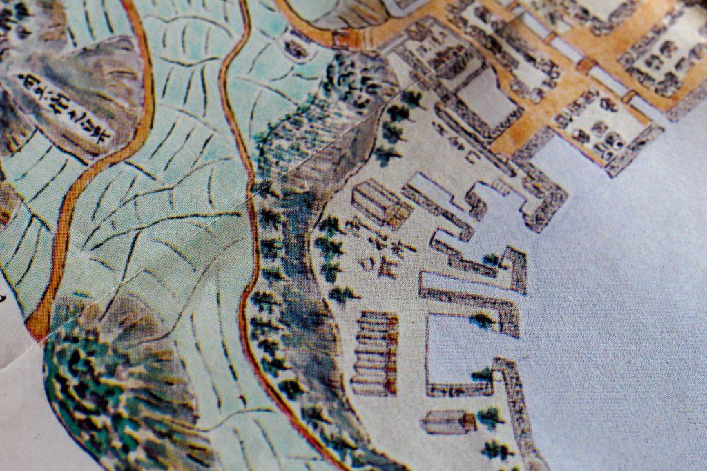 江戸時代の地図と鳥居