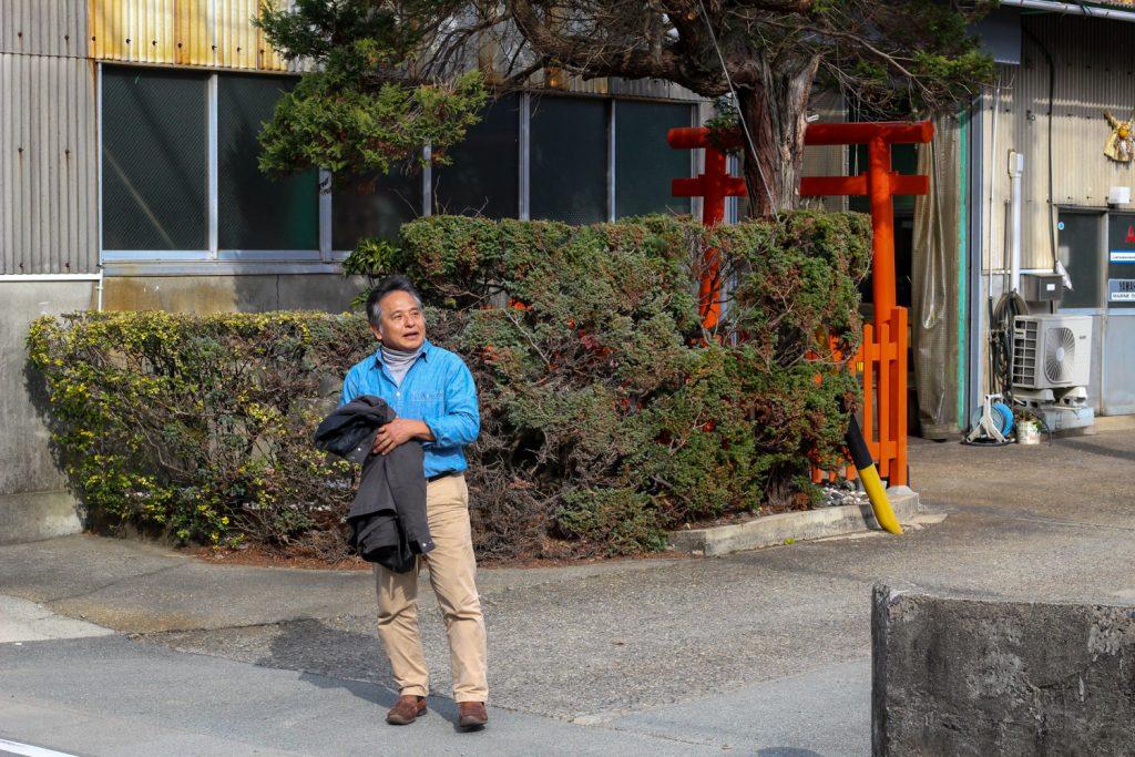 鳥羽市藤野郷で暮らす杉田さんとまち歩き 鳥居