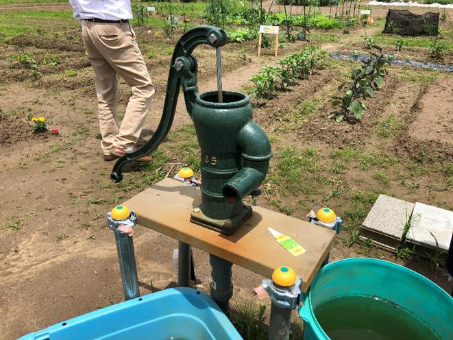 ポンプ式の井戸